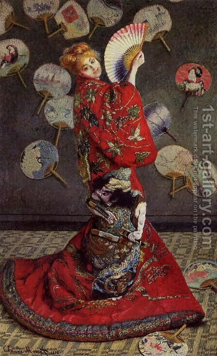 Camille Monet In Japanese Costume by Claude Oscar Monet - Reproduction Oil Painting