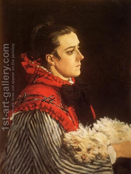 Camille With A Small Dog by Claude Oscar Monet - Reproduction Oil Painting