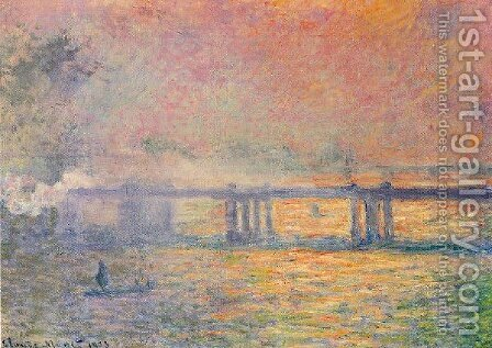 Charing Cross Bridge3 by Claude Oscar Monet - Reproduction Oil Painting
