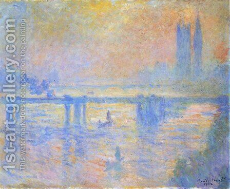 Charing Cross Bridge4 by Claude Oscar Monet - Reproduction Oil Painting