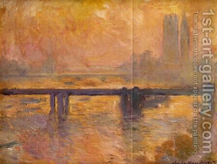 Charing Cross Bridge8 by Claude Oscar Monet - Reproduction Oil Painting