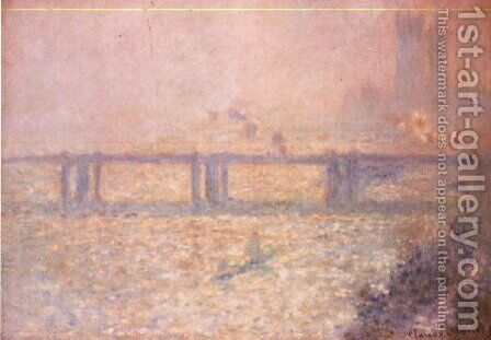 Charing Cross Bridge  London by Claude Oscar Monet - Reproduction Oil Painting