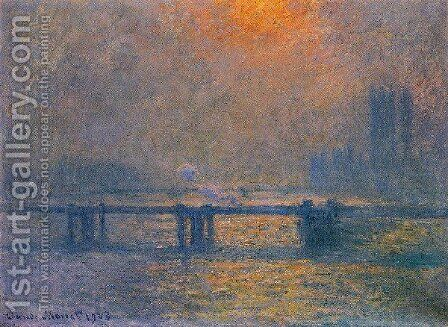 Charing Cross Bridge  The Thames by Claude Oscar Monet - Reproduction Oil Painting