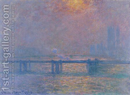 Charing Cross Bridge  The Thames2 by Claude Oscar Monet - Reproduction Oil Painting