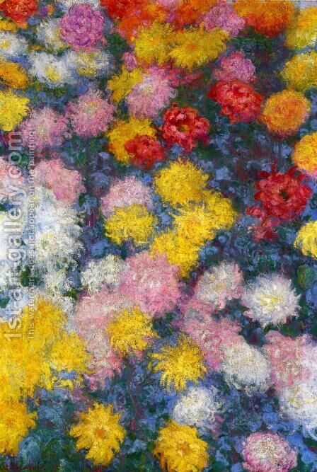Chrysanthemums3 by Claude Oscar Monet - Reproduction Oil Painting