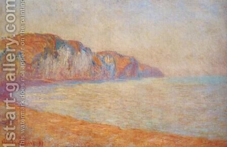Cliff At Pourville In The Morning by Claude Oscar Monet - Reproduction Oil Painting