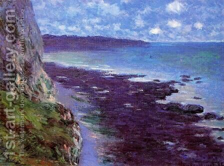 Cliff Near Dieppe by Claude Oscar Monet - Reproduction Oil Painting