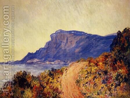Coastal Road At Cap Martin  Near Menton by Claude Oscar Monet - Reproduction Oil Painting