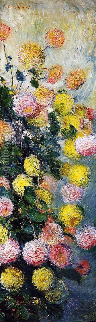 Dahlias2 by Claude Oscar Monet - Reproduction Oil Painting