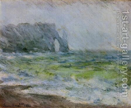 Etretat In The Rain by Claude Oscar Monet - Reproduction Oil Painting