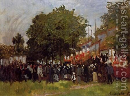 Fete At Argenteuil by Claude Oscar Monet - Reproduction Oil Painting