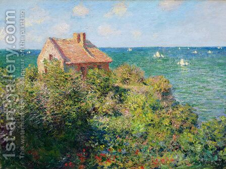 Fishermans Cottage At Varengeville by Claude Oscar Monet - Reproduction Oil Painting