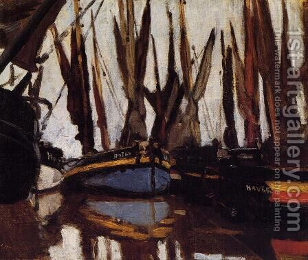 Fishing Boats (study) by Claude Oscar Monet - Reproduction Oil Painting