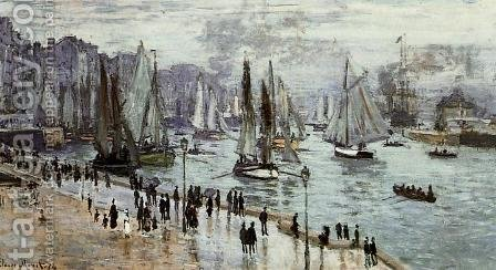 Fishing Boats Leaving The Port Of Le Havre by Claude Oscar Monet - Reproduction Oil Painting