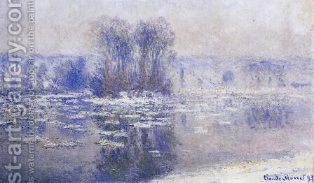 Floes At Bennecourt by Claude Oscar Monet - Reproduction Oil Painting