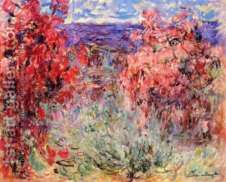 Flowering Trees Near The Coast by Claude Oscar Monet - Reproduction Oil Painting