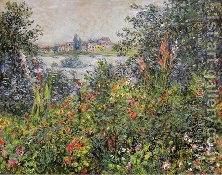 Flowers At Vetheuil by Claude Oscar Monet - Reproduction Oil Painting