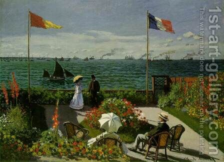 Garden At Sainte Adresse by Claude Oscar Monet - Reproduction Oil Painting