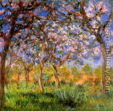 Giverny In Springtime by Claude Oscar Monet - Reproduction Oil Painting