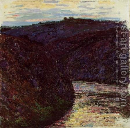Gorge Of The Creuse by Claude Oscar Monet - Reproduction Oil Painting