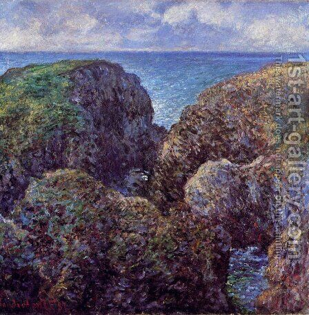 Group Of Rocks At Port Goulphar by Claude Oscar Monet - Reproduction Oil Painting