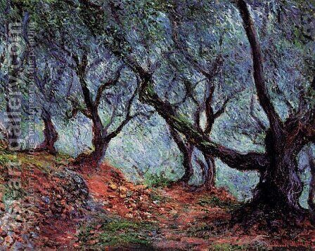 Grove Of Olive Trees In Bordighera by Claude Oscar Monet - Reproduction Oil Painting
