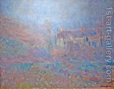 Houses At Falaise In The Fog by Claude Oscar Monet - Reproduction Oil Painting