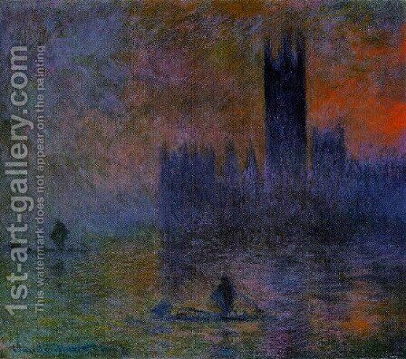 Houses Of Parliament  Fog Effect2 by Claude Oscar Monet - Reproduction Oil Painting