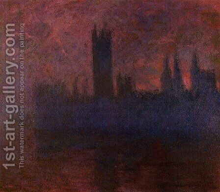 Houses Of Parliament  London  Symphony In Rose by Claude Oscar Monet - Reproduction Oil Painting