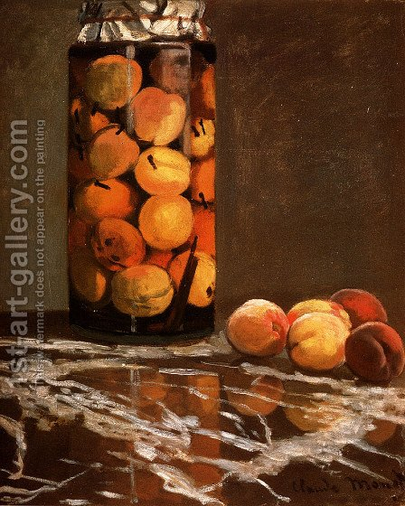Jar Of Peaches by Claude Oscar Monet - Reproduction Oil Painting