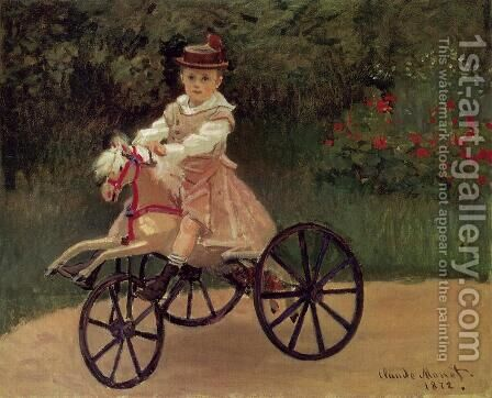 Jean Monet On His Horse Tricycle by Claude Oscar Monet - Reproduction Oil Painting
