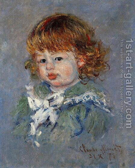 Jean Pierre Hoschede  Called Bebe Jean by Claude Oscar Monet - Reproduction Oil Painting