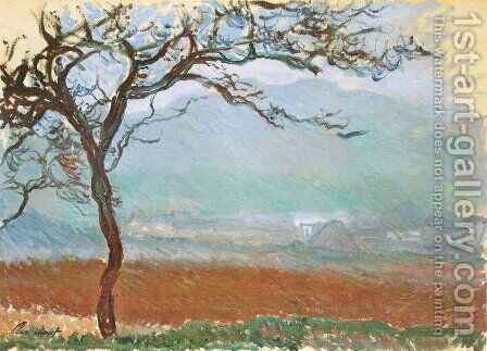 Landscape At Giverny by Claude Oscar Monet - Reproduction Oil Painting