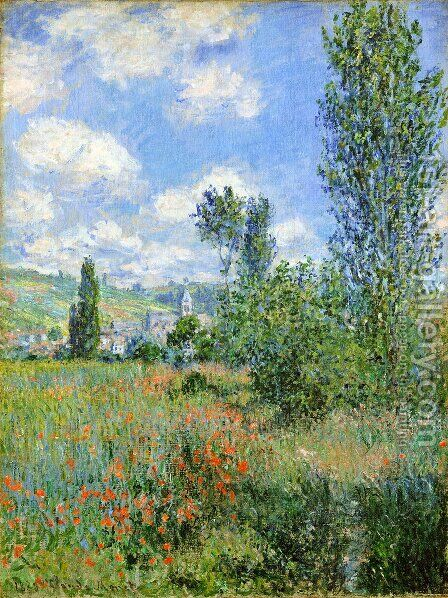 Lane In The Poppy Fields  Ile Saint Martin by Claude Oscar Monet - Reproduction Oil Painting