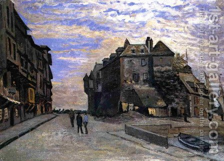 Le Lieutanance At Honfleur by Claude Oscar Monet - Reproduction Oil Painting