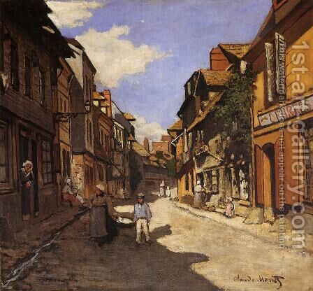 Le Rue De La Bavolle At Honfleur2 by Claude Oscar Monet - Reproduction Oil Painting