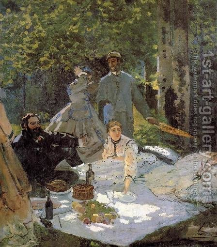 Luncheon On The Grass by Claude Oscar Monet - Reproduction Oil Painting