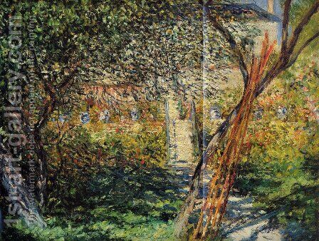 Monets Garden At Vetheuil2 by Claude Oscar Monet - Reproduction Oil Painting