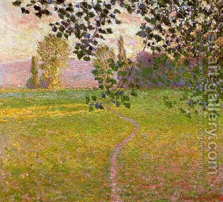 Morning Landscape  Giverny Aka Landscape In The Morning by Claude Oscar Monet - Reproduction Oil Painting