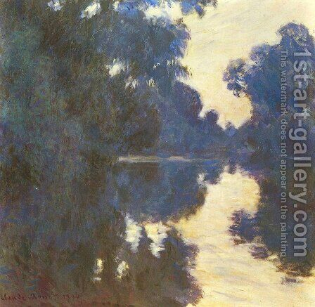 Morning On The Seine4 by Claude Oscar Monet - Reproduction Oil Painting