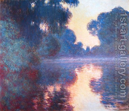 Morning On The Seine  Clear Weather2 by Claude Oscar Monet - Reproduction Oil Painting