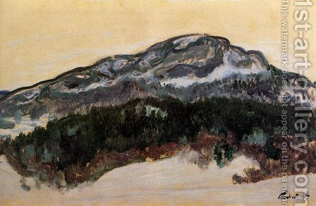 Mount Kolsaas  Norway by Claude Oscar Monet - Reproduction Oil Painting