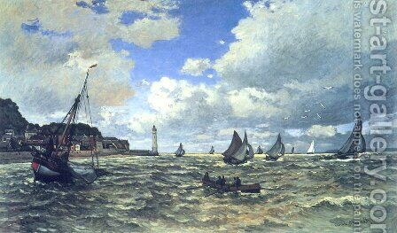 Mouth Of The Seine At Honfleur by Claude Oscar Monet - Reproduction Oil Painting