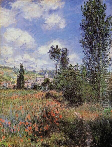 Path In The Ile Saint Martin  Vetheuil Aka T by Claude Oscar Monet - Reproduction Oil Painting