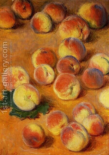Peaches by Claude Oscar Monet - Reproduction Oil Painting