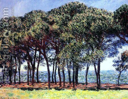 Pine Trees  Cap DAntibes by Claude Oscar Monet - Reproduction Oil Painting