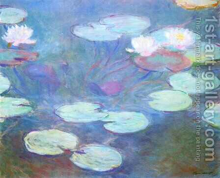 Pink Water Lilies by Claude Oscar Monet - Reproduction Oil Painting