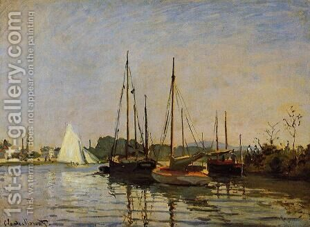 Pleasure Boats by Claude Oscar Monet - Reproduction Oil Painting