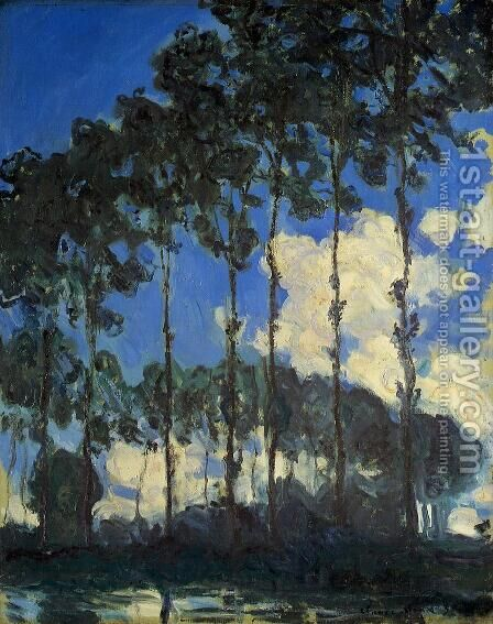 Poplars On The Banks Of The Epte by Claude Oscar Monet - Reproduction Oil Painting