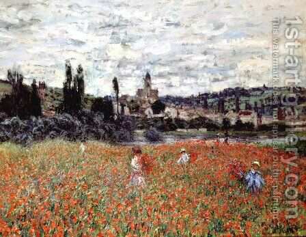 Poppies Near Vetheuil by Claude Oscar Monet - Reproduction Oil Painting